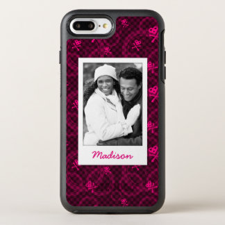 Coque OtterBox Symmetry iPhone 8 Plus/7 Plus Photo et motif rose d'Emo de nom avec des cercles