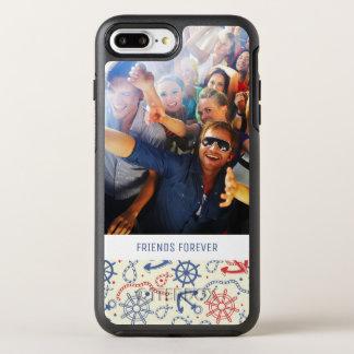 Coque OtterBox Symmetry iPhone 8 Plus/7 Plus Photo et rouge et marine des textes avec l'ancre