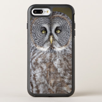 Coque OtterBox Symmetry iPhone 8 Plus/7 Plus Plan rapproché de hibou de grand gris, Canada