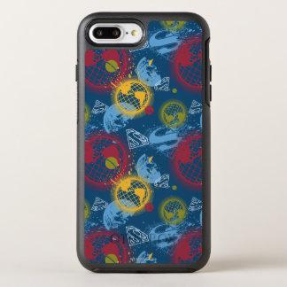 Coque OtterBox Symmetry iPhone 8 Plus/7 Plus Planètes et motif de logo