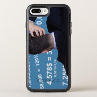 Coque OtterBox Symmetry iPhone 8 Plus/7 Plus Portrait arrière d'un homme d'affaires confus avec