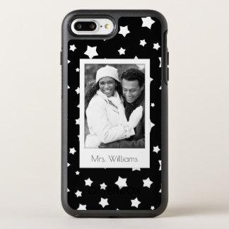 Coque OtterBox Symmetry iPhone 8 Plus/7 Plus Profil sous convention astérisque noir et blanc de