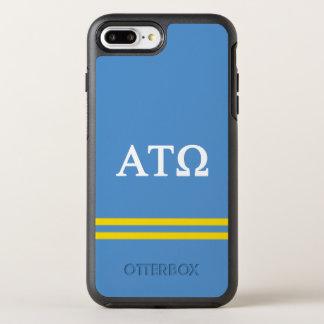 Coque OtterBox Symmetry iPhone 8 Plus/7 Plus Rayure de sport de Tau Omega | d'alpha