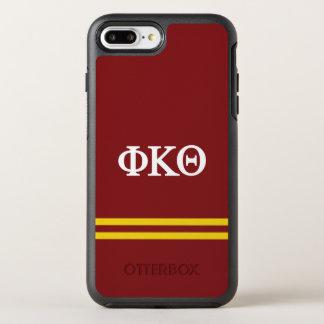 Coque OtterBox Symmetry iPhone 8 Plus/7 Plus Rayure de sport du thêta | de Kappa de phi