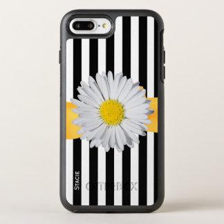 Coque OtterBox Symmetry iPhone 8 Plus/7 Plus Rayures et marguerite