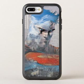 Coque OtterBox Symmetry iPhone 8 Plus/7 Plus Regard fixe de Superman