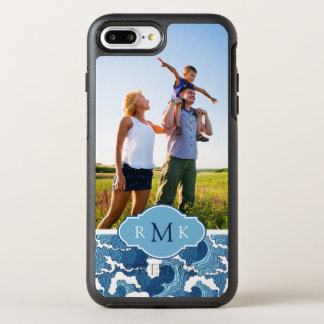 Coque OtterBox Symmetry iPhone 8 Plus/7 Plus Résumé Waves| votre photo et monogramme