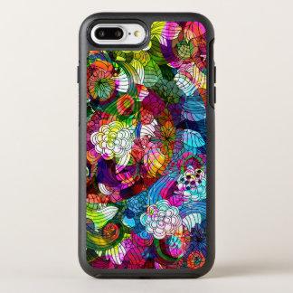 Coque OtterBox Symmetry iPhone 8 Plus/7 Plus Rétro motif floral coloré frais de collage