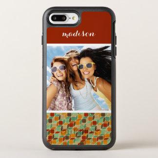 Coque OtterBox Symmetry iPhone 8 Plus/7 Plus Rétro motif géométrique 4 2 de photo et de nom