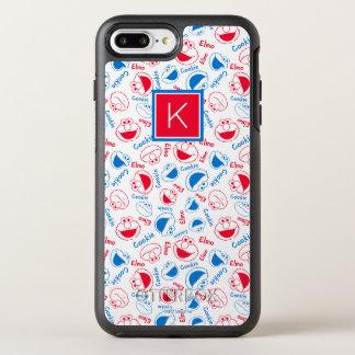 Coque OtterBox Symmetry iPhone 8 Plus/7 Plus Rouge et monogramme bleu du motif |