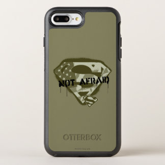 Coque OtterBox Symmetry iPhone 8 Plus/7 Plus S-Bouclier | de Superman non effrayé - logo des