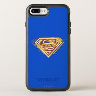Coque OtterBox Symmetry iPhone 8 Plus/7 Plus S-Bouclier logo jaune et rouge de | de Superman