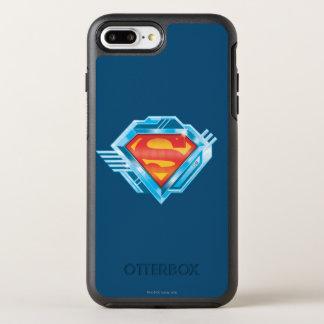 Coque OtterBox Symmetry iPhone 8 Plus/7 Plus S-Bouclier logo rouge et bleu de   de Superman en