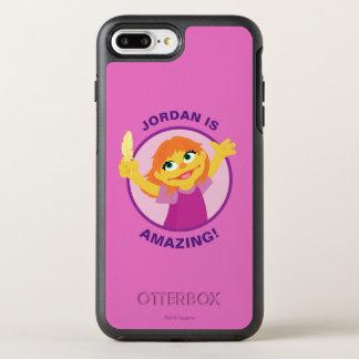 Coque OtterBox Symmetry iPhone 8 Plus/7 Plus Sesame Street | Julia tenant la plume