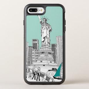 coque iphone 8 plus statue liberté