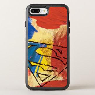 Coque OtterBox Symmetry iPhone 8 Plus/7 Plus Superman a peint le logo