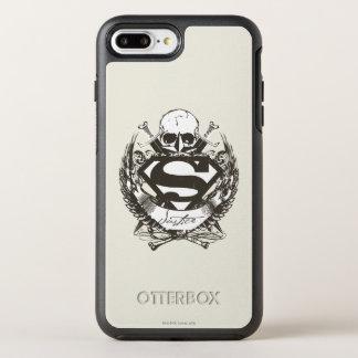 Coque OtterBox Symmetry iPhone 8 Plus/7 Plus Superman a stylisé le logo de justice de |