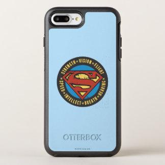 Coque OtterBox Symmetry iPhone 8 Plus/7 Plus Superman a stylisé le logo de vol de vision de
