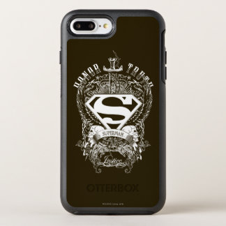 Coque OtterBox Symmetry iPhone 8 Plus/7 Plus Superman a stylisé l'honneur de |, la vérité et le
