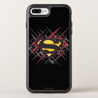 Coque OtterBox Symmetry iPhone 8 Plus/7 Plus Superman a stylisé | logo noires et de rouge de