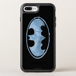 Coque OtterBox Symmetry iPhone 8 Plus/7 Plus Symbole de batte de café - bleu