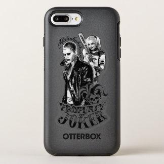 Coque OtterBox Symmetry iPhone 8 Plus/7 Plus Tatouage d'aerographe de joker et de Harley du