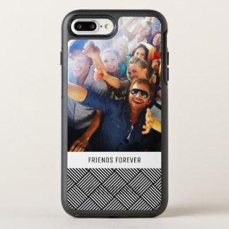 Coque OtterBox Symmetry iPhone 8 Plus/7 Plus Texture vérifiée géométrique de photo et de textes