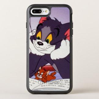 Coque OtterBox Symmetry iPhone 8 Plus/7 Plus Tom et livre de lecture de Jerry dédicacé