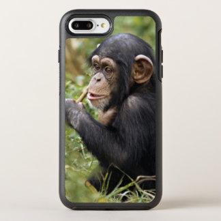 Coque OtterBox Symmetry iPhone 8 Plus/7 Plus Troglodytes de casserole du chimpanzé | de bébé