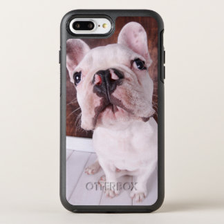 Coque OtterBox Symmetry iPhone 8 Plus/7 Plus Un chiot de bouledogue français