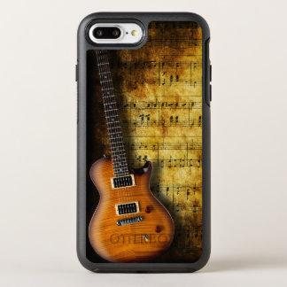Coque OtterBox Symmetry iPhone 8 Plus/7 Plus Vieille guitare de feuille de musique