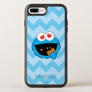 Coque OtterBox Symmetry iPhone 8 Plus/7 Plus Visage de sourire de biscuit avec les yeux en