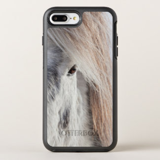 Coque OtterBox Symmetry iPhone 8 Plus/7 Plus Visage islandais blanc de cheval, Islande