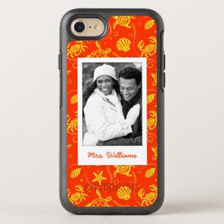 Coque Otterbox Symmetry Pour iPhone 7 Ajoutez votre motif orange de plage de la photo |