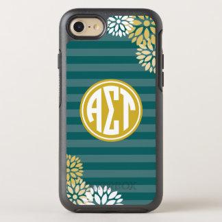 Coque Otterbox Symmetry Pour iPhone 7 Alpha motif de rayure de monogramme de Tau | de