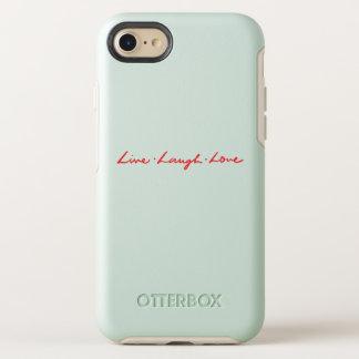 Coque Otterbox Symmetry Pour iPhone 7 Amour vivant de rire de police rouge chic
