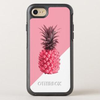 Coque Otterbox Symmetry Pour iPhone 7 Ananas rose et blanc tropical girly mignon