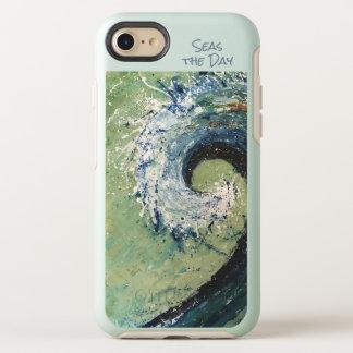 Coque Otterbox Symmetry Pour iPhone 7 Art abstrait de vague côtière de plage