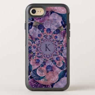 Coque Otterbox Symmetry Pour iPhone 7 Ballons pourpres et roses de kaléidoscope de
