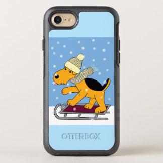 Coque Otterbox Symmetry Pour iPhone 7 Bande dessinée Airedale Terrier sur l'iPhone 7