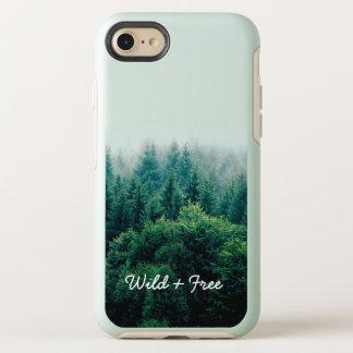 Coque Otterbox Symmetry Pour iPhone 7 Belle forêt verte sauvage et libre