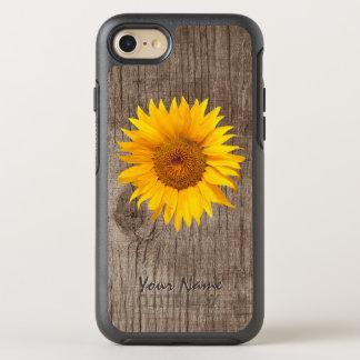 Coque Otterbox Symmetry Pour iPhone 7 Bois rustique de grange de tournesol avec le cru