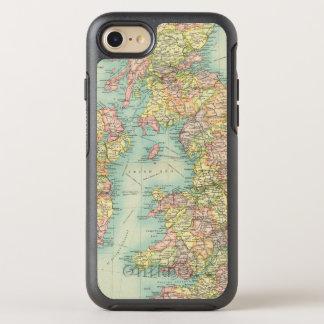 Coque Otterbox Symmetry Pour iPhone 7 Carte politique d'îles britanniques