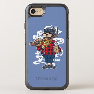 Coque Otterbox Symmetry Pour iPhone 7 Cas de téléphone d'Otterbox de barbe de pizza