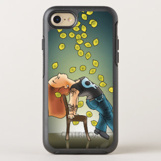 Coque Otterbox Symmetry Pour iPhone 7 Cas Lemony d'Otterbox de citron