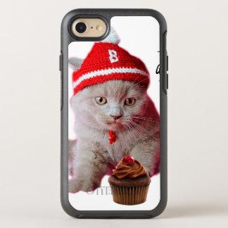 Coque Otterbox Symmetry Pour iPhone 7 Chat de petit gâteau - ange et démon - croquis de