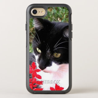 Coque Otterbox Symmetry Pour iPhone 7 Chat impressionnant de smoking dans le jardin