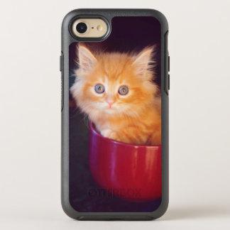 Coque Otterbox Symmetry Pour iPhone 7 Chaton orange dans une tasse rouge