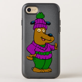 Coque Otterbox Symmetry Pour iPhone 7 Chiot dans un casquette et un chandail d'hiver