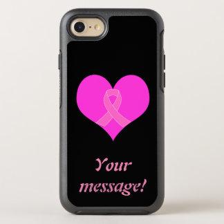 Coque Otterbox Symmetry Pour iPhone 7 Coeur et conception de charité de cancer du sein